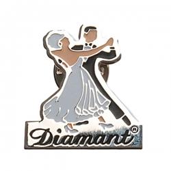 Diamant Zilverkleurige Pin HW07966