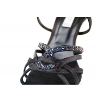 Portdance PD800 zwarte dansschoenen met glimmende steentjes