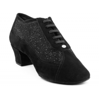 Portdance PD701 Fashion Black Nobuck Glitter