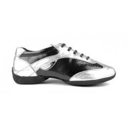 Portdance PD06 Fashion Zilver/Zwarte Danssneakers met Splitzool